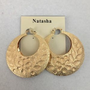 Natasha gold hoop earrings
